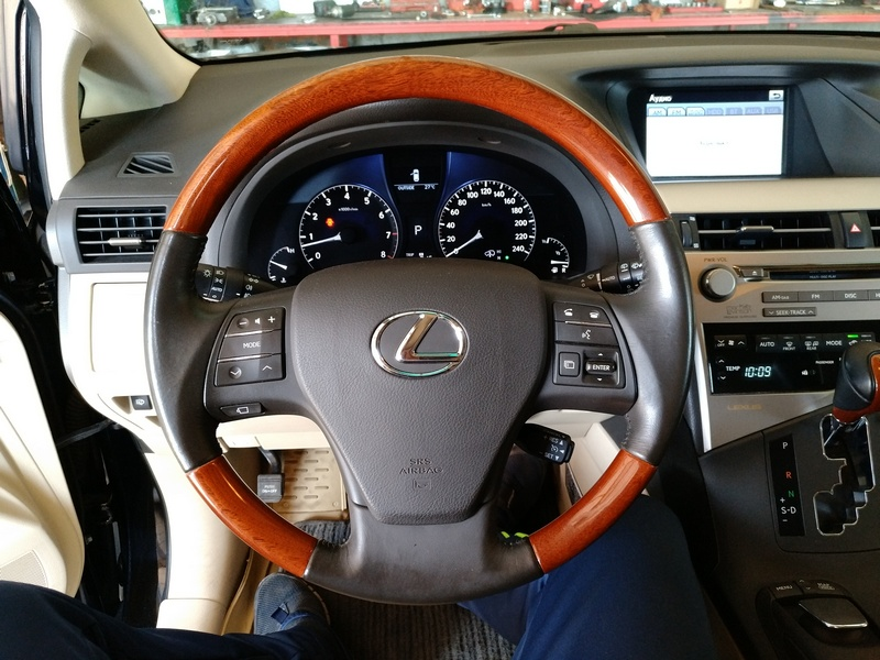 Тестирование рулевой электро колонки LEXUS RX 350 2011
